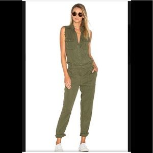 Etienne Marcel frayed jumpsuit military color